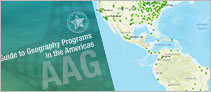 AAG Guide to Geography Programs in the Americas and interactive map